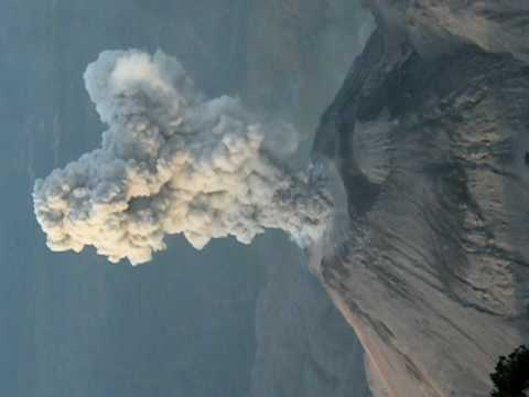 Volcan Santiaguito from Santa Maria