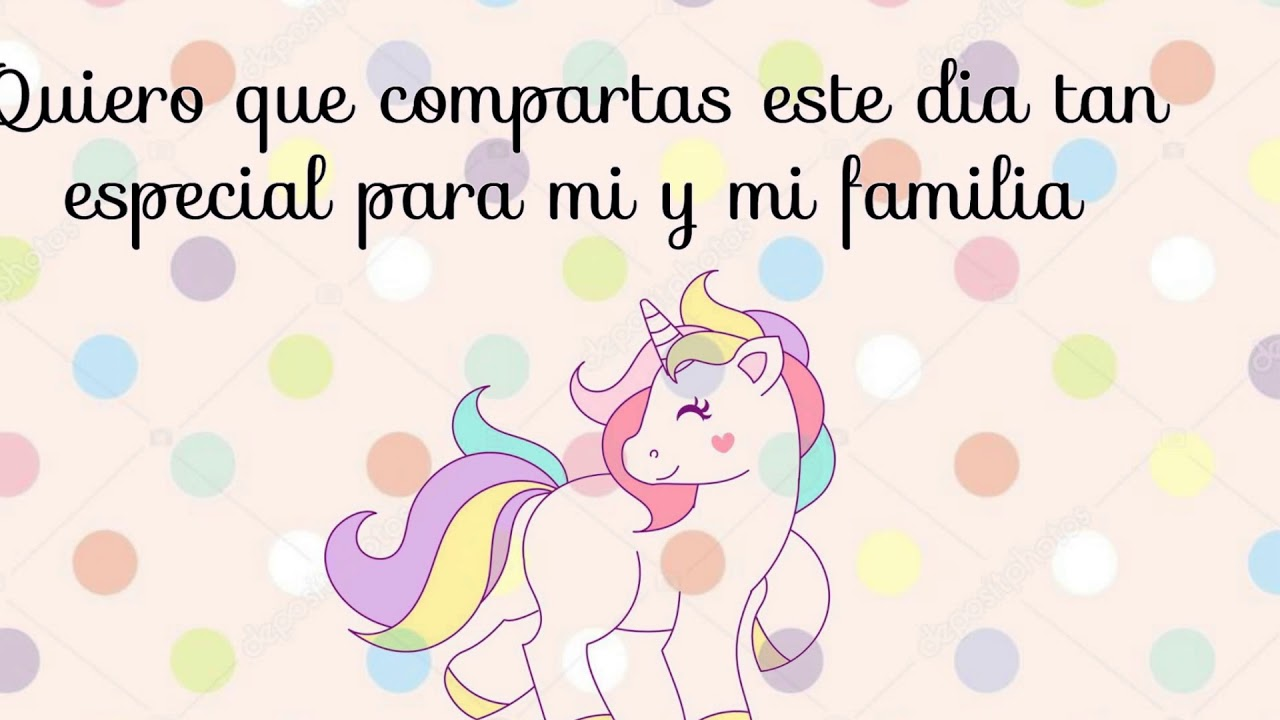 Invitacion Unicornio Youtube