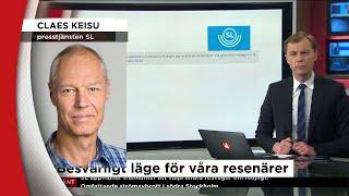 Strömavbrott orsakar stort stopp i tunnelbanan - Nyheterna (TV4)
