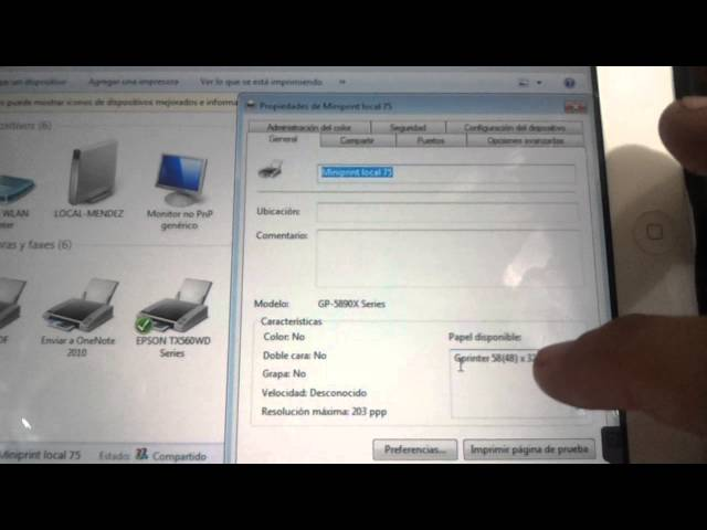 Configuracion miniprint termica ecline 5890x USB