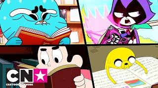 Гъмбол + Малки титани + Време за приключения + Стивън   Книгите са забавни   Cartoon Network