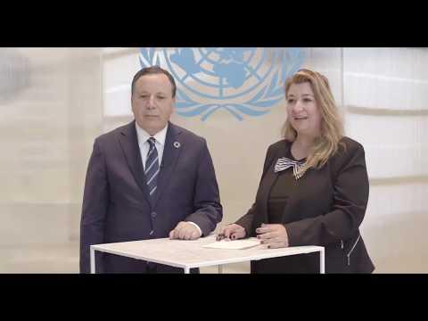على هامش أشغال الدورة 74 للجمعية العامة للأمم المتحدة حول عضوية تونس بمجلس الأمن الدولي 2020-2021
