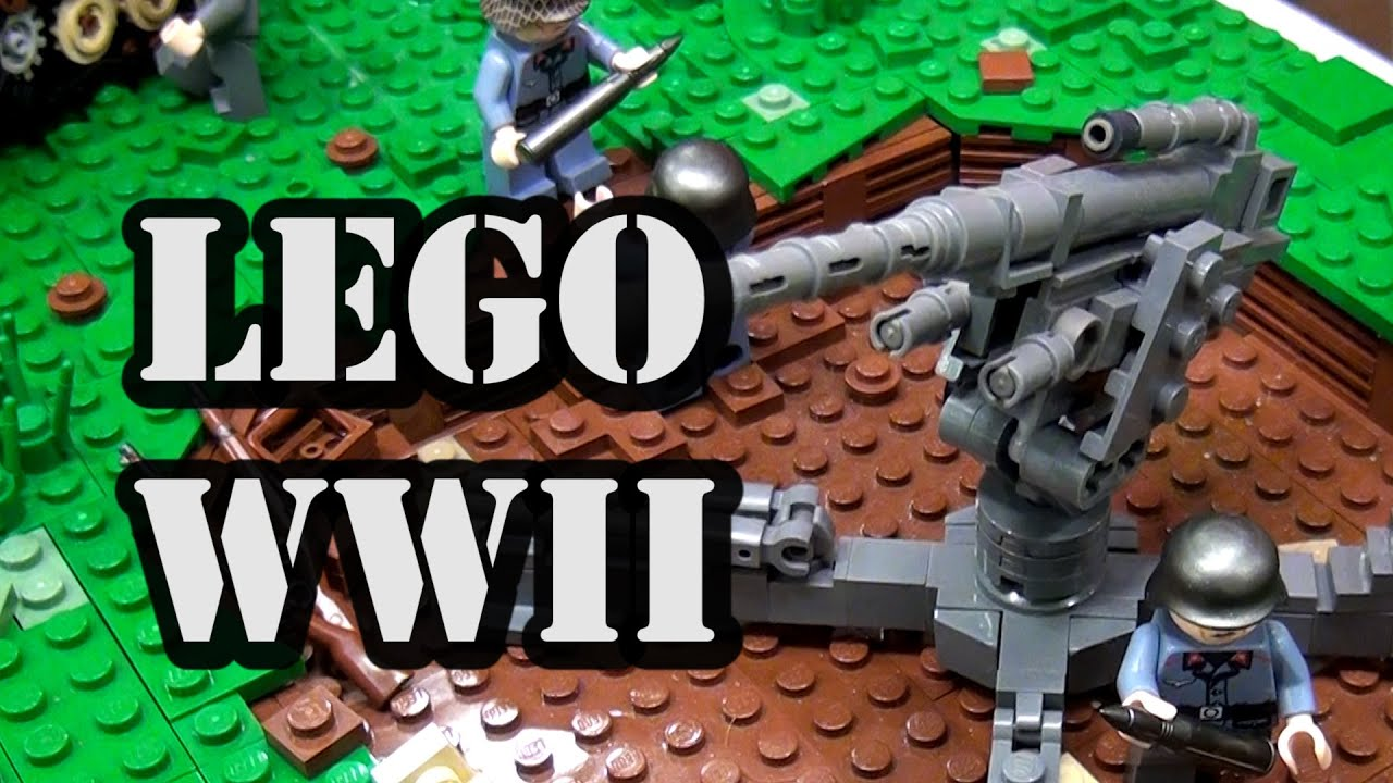 LEGO WWII German Luftwaffe Airfield - YouTube