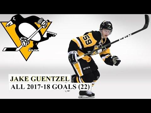 Jake Guentzel (#59) All 22 Goals of the 2017-18 NHL Season