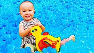 Детские развивающие игры – Уточка сортер учит Цвета и Формы -  Дада игрушки для малышей.
