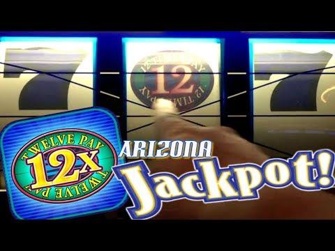 ** AGAIN!? **  More 12 Times Pay Arizona Jackpot!! High Limit $1 Slots | Slot Traveler