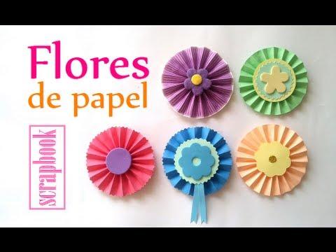 Manualidades c mo hacer una flor de papel acorde n - Como hacer flores de papel ...