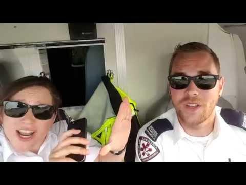 """Paramedics lip-sync """"Ain't No Mountain High Enough"""""""