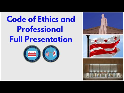 Code Of Ethics And Professional Conduct: Full Presentation