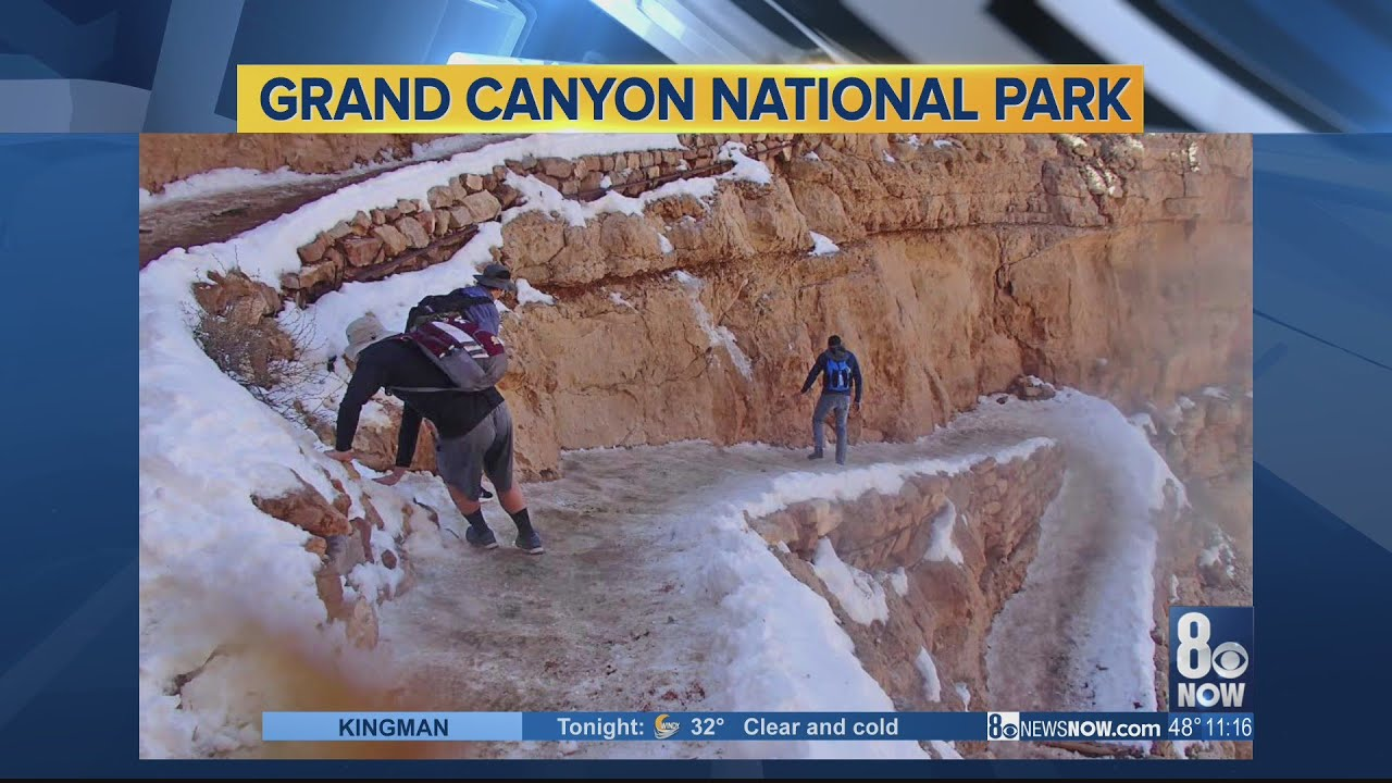 National Park Service Warns Of Icy Dangers After Photo From Grand Canyon Surfaces