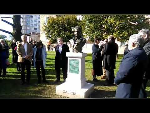Descobren un busto de Isaac Díaz Pardo en Pontevedra