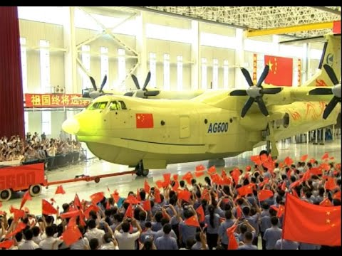 China's Massive Amphibious Aircraft Rolls off Production Lin