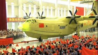 China's Massive Amphibious Aircraft Rolls off Production Line