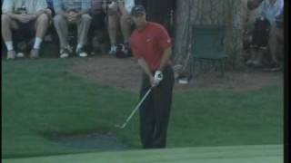Tiger Woods Masters shot on 16th Hole 2005