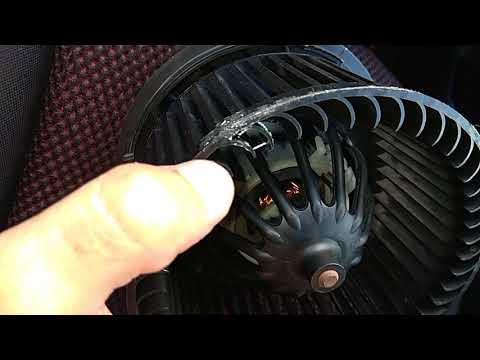 Снятие моторчика печки Nissan Note