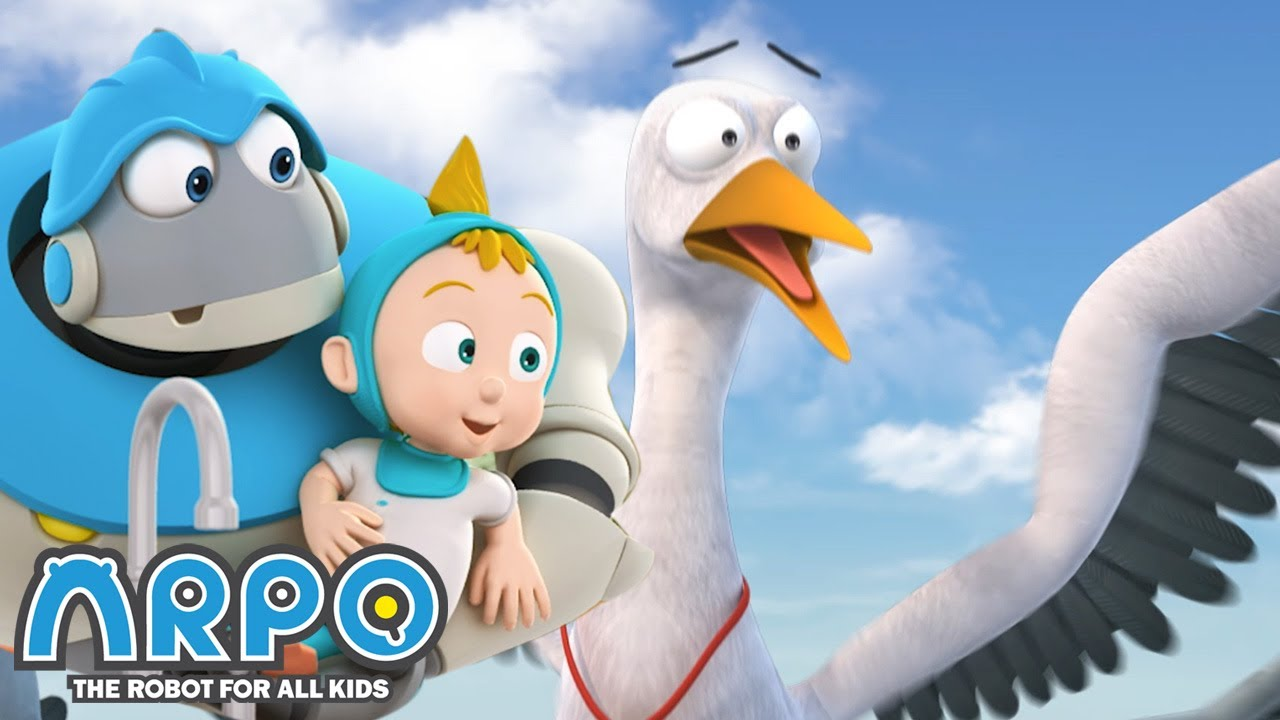 Bird ATTACK! - ARPO the Robot | 에피소드를보고 | Cartoons for Kids | Robot Animation