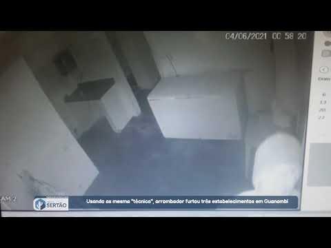 """Usando as mesma """"técnica"""", arrombador furtou três estabelecimentos em Guanambi"""