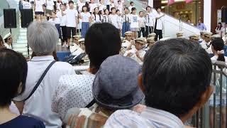 川崎小学校生徒と川崎市消防音楽隊による合同演奏「上を向いて歩こう」