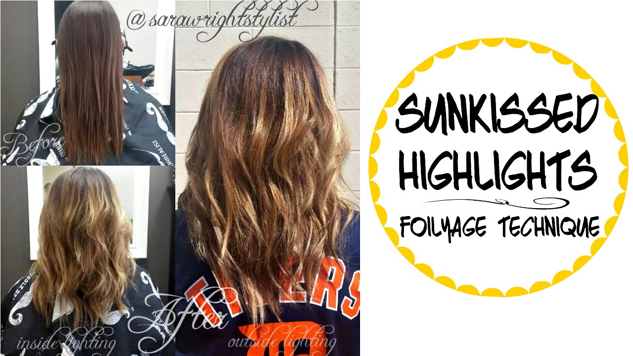 Sun Kissed Blonde Highlights Hair Color Tutorial Youtube