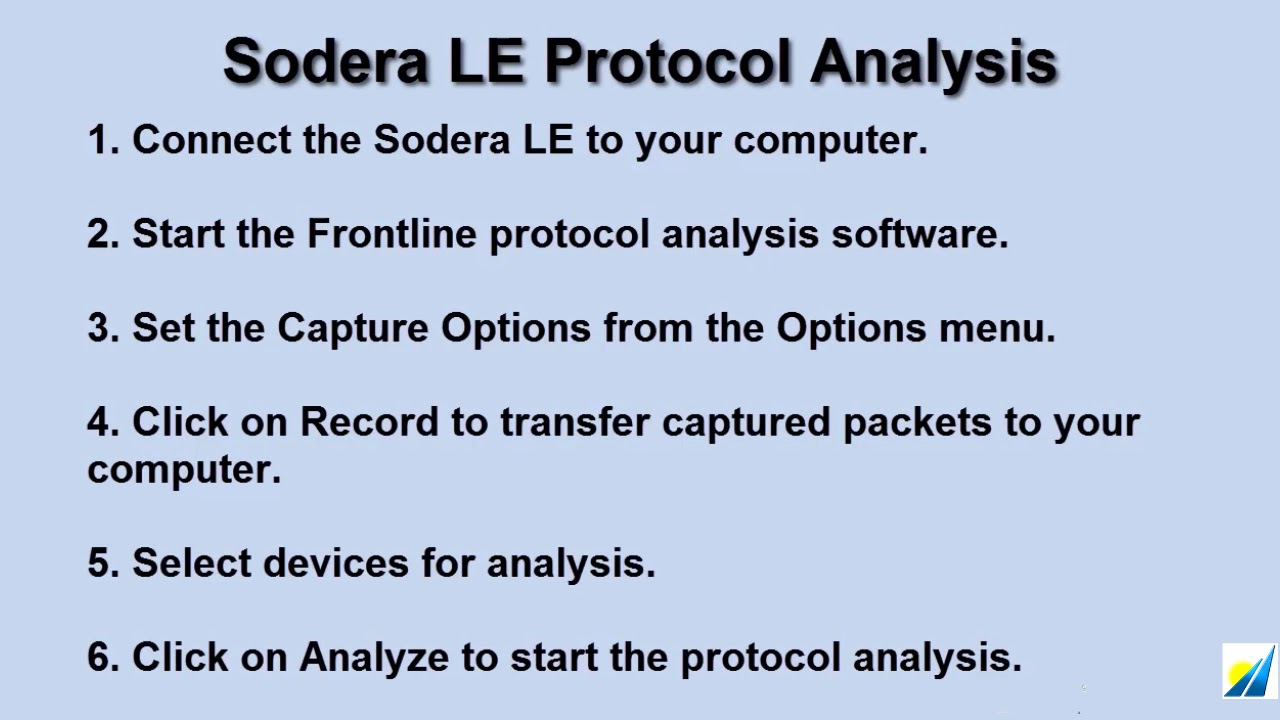 Sodera LE Bluetooth Protocol and Power Analyzer from Saelig