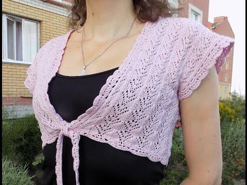 Вязание спицами. Простой жилет-болеро. МК