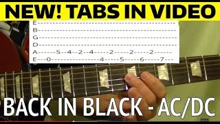 Back In Black - AC/DC - Guitar Lesson WITH TABS!