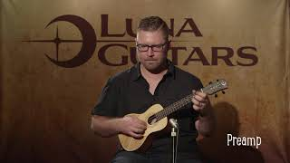Tapa Solid Spruce Concert Ukulele with Preamp by Luna Ukes