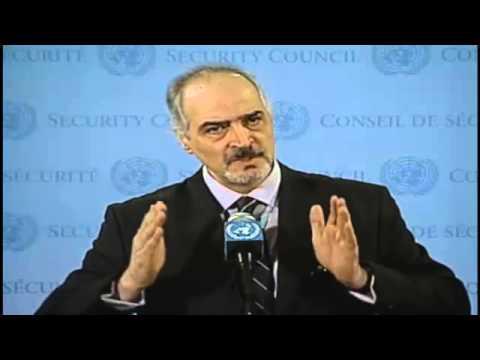 Syrian Arab Republic, H.E. Mr. Bashar Ja'afari Security Council Media 8 Mar 2013