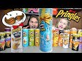 PRINGLES CHALLENGE! 16 UNIQUE flavors! Extreme POTATO CHIP tasting CONTEST! The TOYTASTIC Sisters