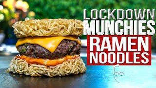 QUARANTINE/LOCKDOWN MUNCHIES: 4 QUICK & EASY RAMEN RECIPES | SAM THE COOKING GUY 4K