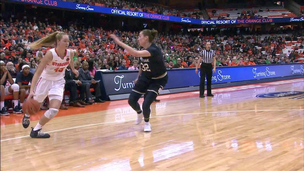 Syracuse Women S Basketball Falls Short Vs Notre Dame In