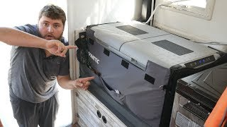 THE EASY WAY TO INSTALL A DOMETIC COOL FREEZE FRIDGE FREEZER in a Truck Camper