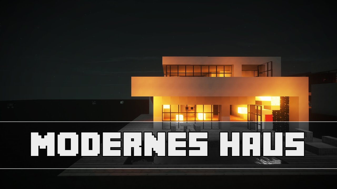 Modernes haus 20x20 minecraft tutorial german hd for Modernes haus minecraft