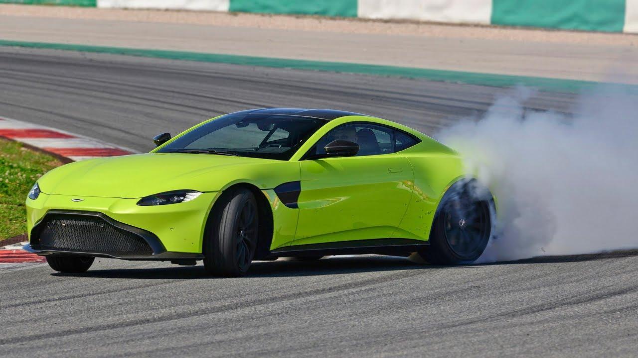Aston V Vantage Test Drive YouTube - Aston martin v8 vantage 2018
