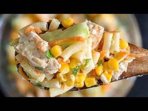 salade-de-pâtes-crémeuse-au-poulet