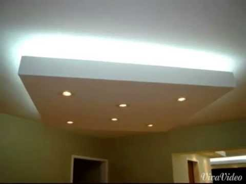 Drywall tipos de acabados en yeso youtube - Plafones de led ...