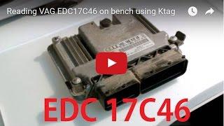 Reading VAG EDC17C46 on bench using Ktag thumbnail