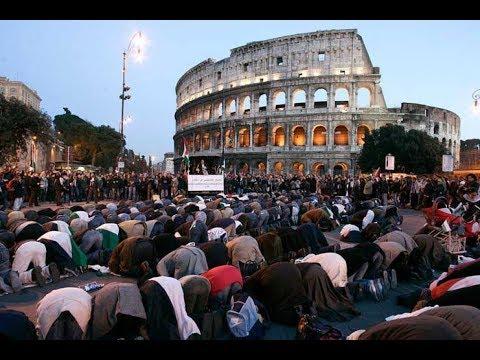 Reacções dos Italianos em Milão, Turim e Roma para com os  Muçulmanos