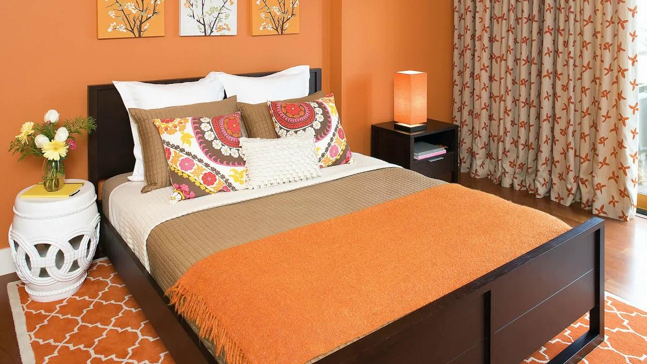 Top 10 Orange Color Interior Design Ideas Burnt Bedroom Living Room Small Houses Studio 2018 Youtube