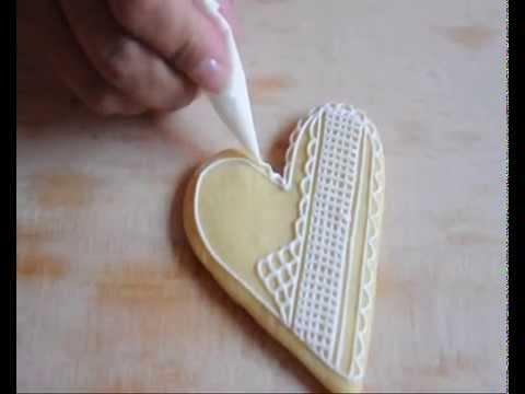 tutorial biscotti decorati in ghiaccia reale - youtube - Decorazioni Con Biscotti