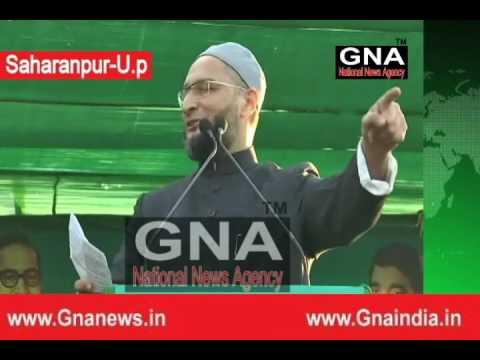 Saharanpur Gandhi Park roared fiercely contesting an election meeting Asaduddin Owaisi today-GNA