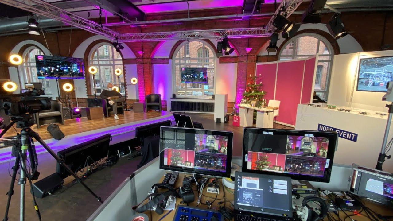 Blick aus der Regie beim Live-Stream www.GesundeWirtschaft.de