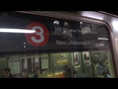 IRT Broadway Local: 137th Street-City College & Brooklyn bound R-62 3 trains @ 103rd Street!