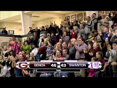 Division 3 District Semifinals Genoa Vs. Swanton High School Boys Basketball at Central Catholic 3-3