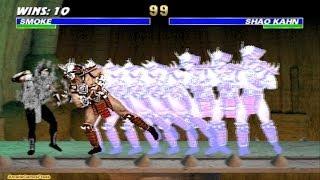 Ultimate Mortal Kombat 3 arcade Human Smoke Gameplay Playthrough Longplay