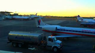 Time laspe: A day of delays at LaGuardia