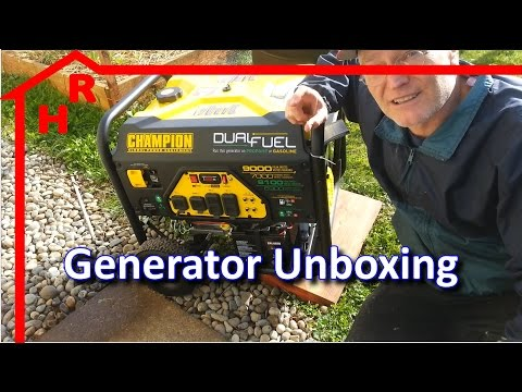 Champion Generator Unboxing  -- Champion 7000W Dual Fuel Model
