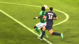 Video Zlatan Ibrahimovic Kung-fu Kick (PSG 1-2 Saint Etienne) download MP3, 3GP, MP4, WEBM, AVI, FLV Mei 2018