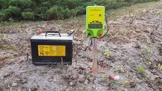 멧돼지.고라니 농작물 피해 지역에 전기울타리 시공방법