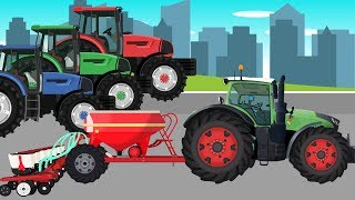 Farmer and his Tractors | agricultural machinery | Rolnik i Traktory | Bajka Maszyny rolnicze